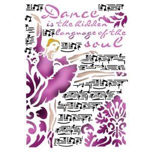 Stamperia A4 Stencil Dance