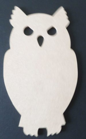 Set of 6 Different Sized MDF Owls