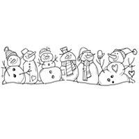 Woodware Clear Magic Snowman Family Stamp Set