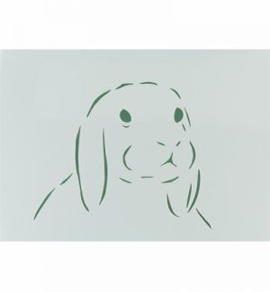 A4 Stencil - Rabbit 3