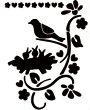 A5 Pronty Sencil - Bird with Young