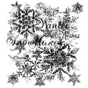 Woodware Clear Magic Snowflakes stamp Set