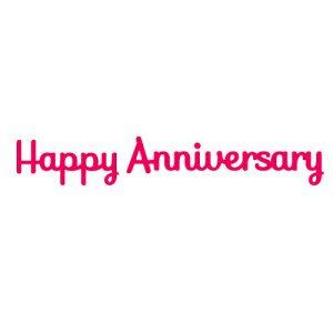 Presscut Happy Anniversary Die