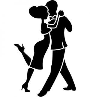 A4 Stencil - Dancers 1