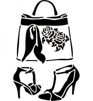 A4 Stencil - Bag and Shoes
