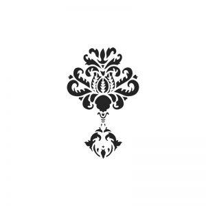 A4 Stencil - Baroque 1