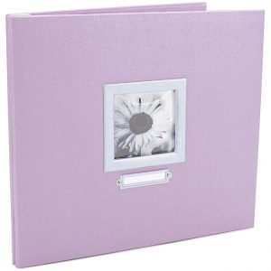 Colorbok Lilac Bookplate 12 x 12 Scrapbook