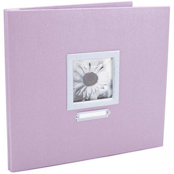 Colorbok Lilac Bookplate 12 x 12 Scrapbook