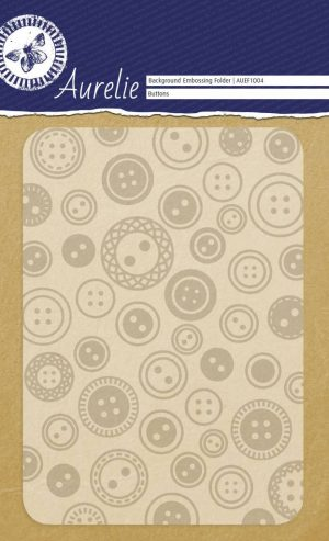 Aurelie Background Embossing Folder Buttons