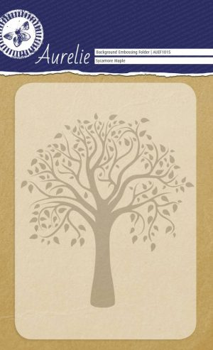 Aurelie Background Embossing Folder Sycamore Maple