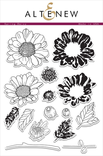 Altenew Spring Daisy Stamp Set