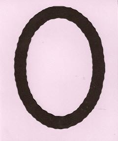 Large Deckle Oval Frame