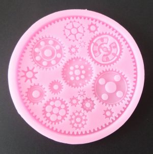 Cogs 1 Steam Punk  Silicone Mould
